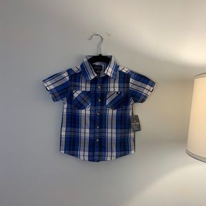NWT Lucky Brand Plaid Button Down Shirt Size 2T